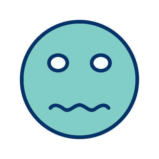 Anxious face icon